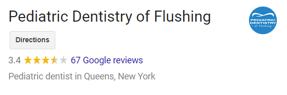 Pediatric Dentistry of Flushing Google Reviews Screenshot
