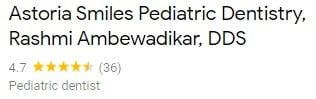 Astoria Smiles Pediatric Dentistry Google Reviews Screenshot
